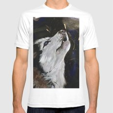 Howling Husky Mens Fitted Tee White MEDIUM