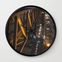 Lift Bridge at Night Wall Clock