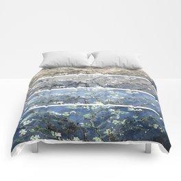 Vincent Van Gogh : Almond Blossoms Panel Art Blue Beige Comforters