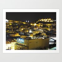 Portugal night Art Print