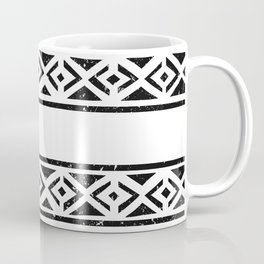Black And White Pattern Wallpaper Print Coffee Mug