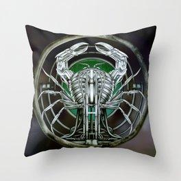 """""""Astrological Mechanism - Cancer"""" Throw Pillow"""