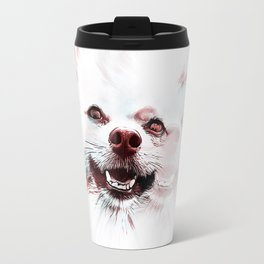 Double Vision Pomeranian Travel Mug