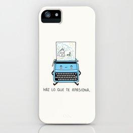 Haz lo que te apasiona iPhone Case