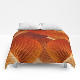 Leaves in Terracotta Color #decor #society6 #buyart Comforters