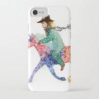 cowboy iPhone & iPod Cases featuring Cowboy by Ksenia Sapunkova