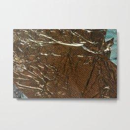 Golden Wrinkles Metal Print