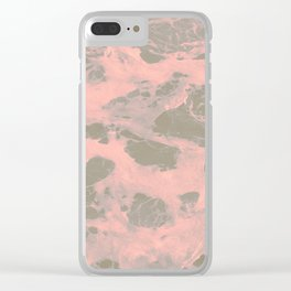 Pink Storm Clear iPhone Case
