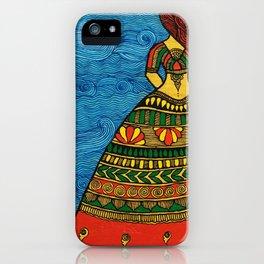 By The Sea madhubani painting iPhone Case