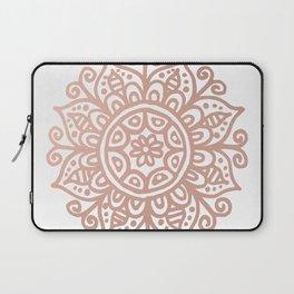 Rose Gold Floral Mandala Laptop Sleeve
