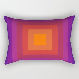 Freaky Deaky - abstract retro 70s style throwback outtasight art decor 1970s vibes Rectangular Pillow