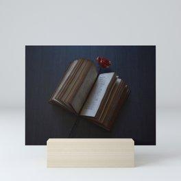 Rose Bookmark Mini Art Print