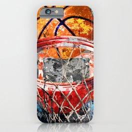 Modern basketball art print swoosh 158 - Basketball artwork poster iPhone Case