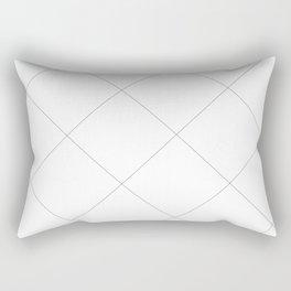 Grid lines B&W Rectangular Pillow