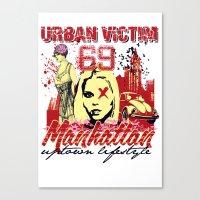 manhattan Canvas Prints featuring Manhattan  by Tshirt-Factory