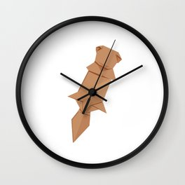Origami Sea Otter Wall Clock