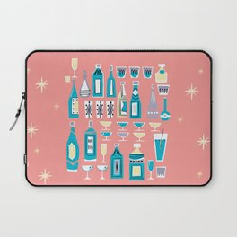 Cocktails And Drinks In Aquas and Pinks Laptop Sleeve