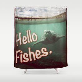 Hello Fishes Shower Curtain