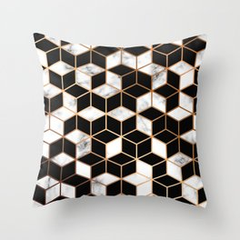Marble & Geometry 005 Throw Pillow
