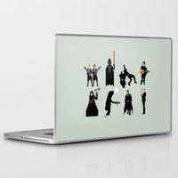 men Laptop & iPad Skins featuring Men in Black by Eric Fan