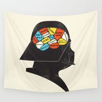 sith Wall Tapestries featuring Vader Phrenology by Wharton