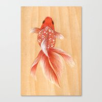 goldfish Canvas Prints featuring Goldfish by The White Deer