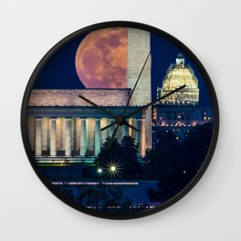 Postcard View of DC Wall Clock