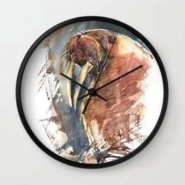 Walrus. Wall Clock