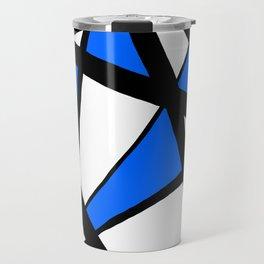 China Blue Geometric Triangle Abstract Travel Mug