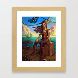 Pirate Commission Framed Art Print