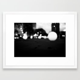 Circular Light B&W Framed Art Print