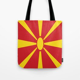 Flag of Macedonia - Macedonian,skopje,Bitola,Kumanovo,Prilep,Balkan,Alexander the great,Karagoz,red Tote Bag