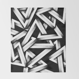 Impossible Penrose Triangles Throw Blanket