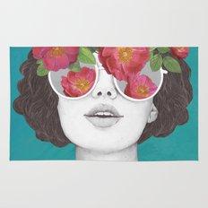 The optimist // rose tinted glasses Rug