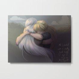 A Good Hug Metal Print