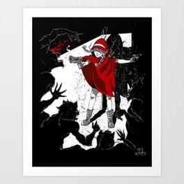 Red Riding Hood Reloaded Art Print
