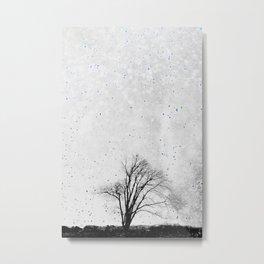 A litte blue Snow Metal Print
