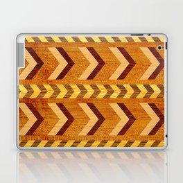 Wood Inlaid Chevrons Laptop & iPad Skin