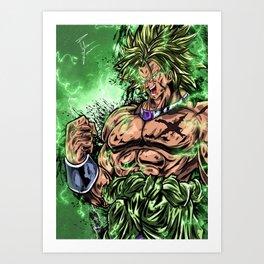 Legendary Super Saiyan Art Print