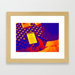 Read. Framed Art Print
