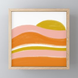 morning sunrise stripes Framed Mini Art Print