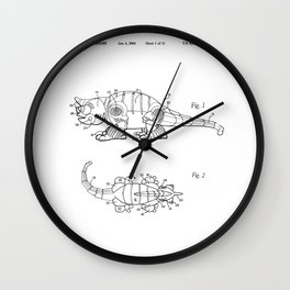 Little Cat Patent Wall Clock