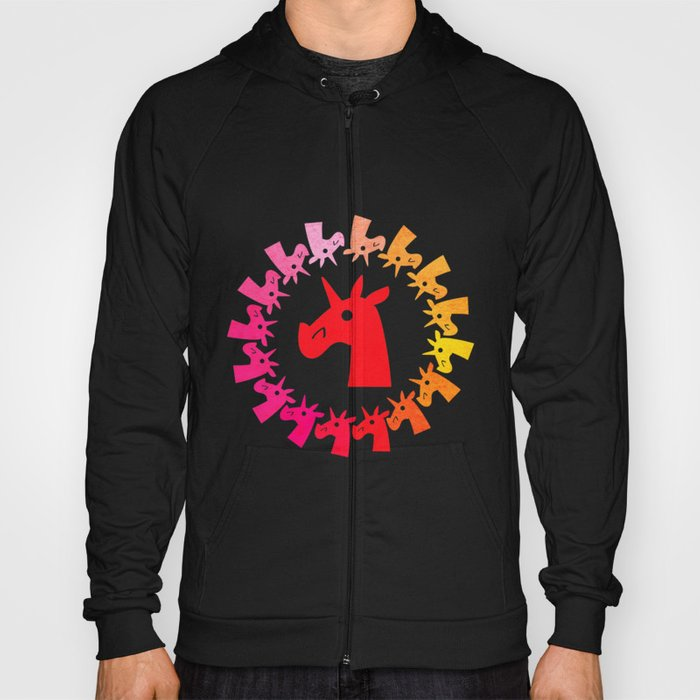 Color Me Red Unicorn Hoody
