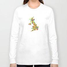 Abstract United Kingdom Bright Earth Long Sleeve T-shirt