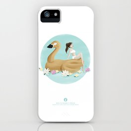 Summer Pool Party - Gold Swan Float A iPhone Case