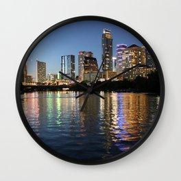 Austin, Texas skyline - city lights Wall Clock