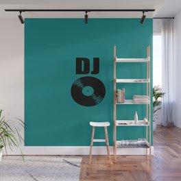 Dj record music logo Wall Mural