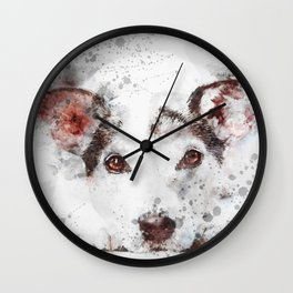 Watercolor Jack Russel Wall Clock