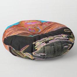 Orca Sunset Floor Pillow