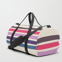 Five Trendy Stripes on White 17 Duffle Bag